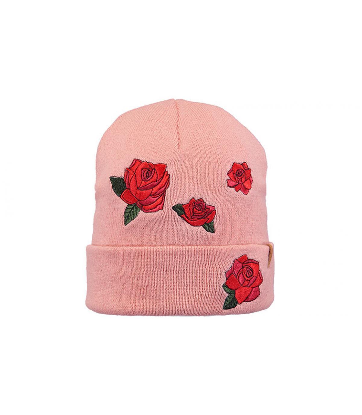 bonnet fleurs rose Barts
