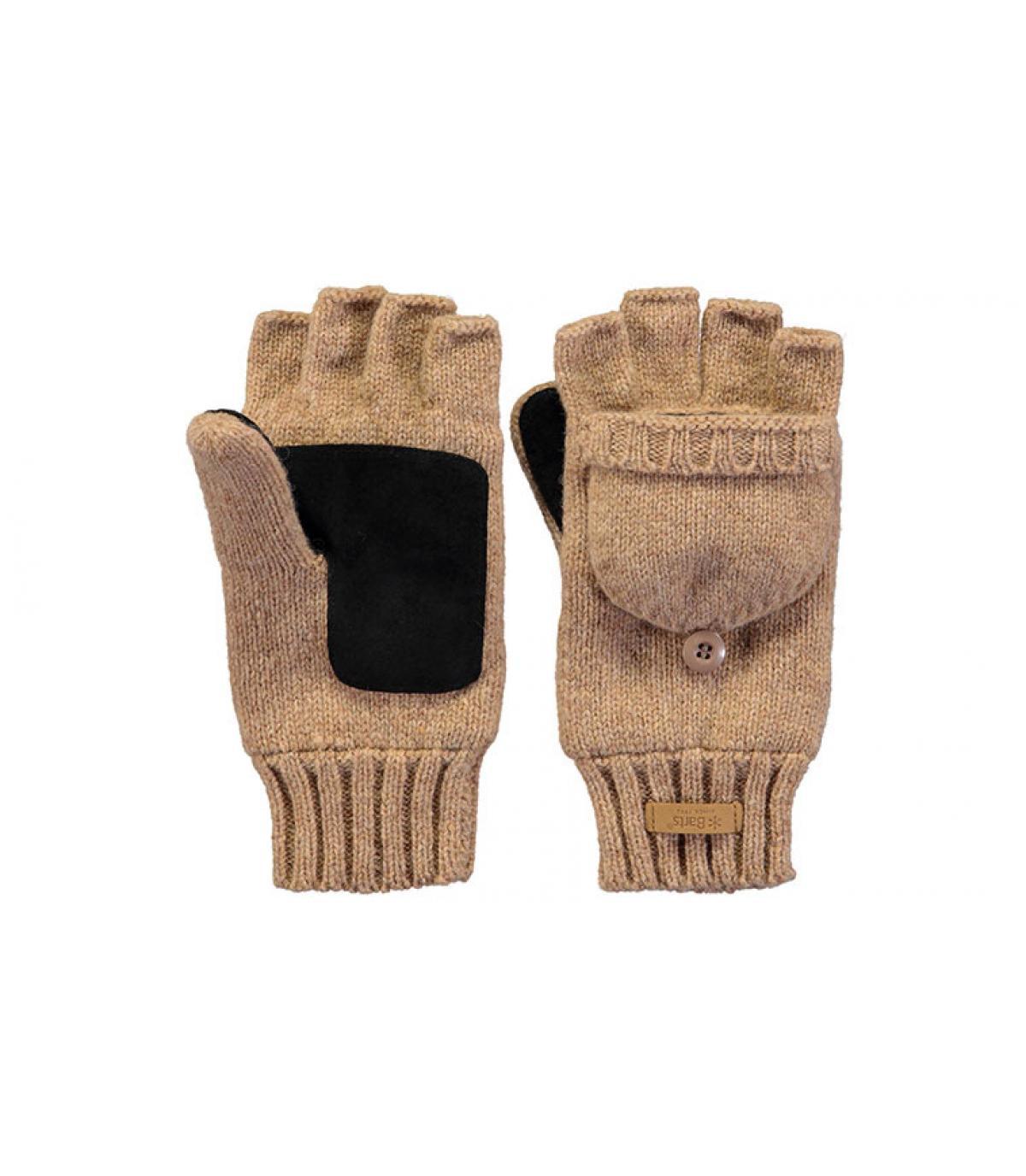 gants mitaines femme beige