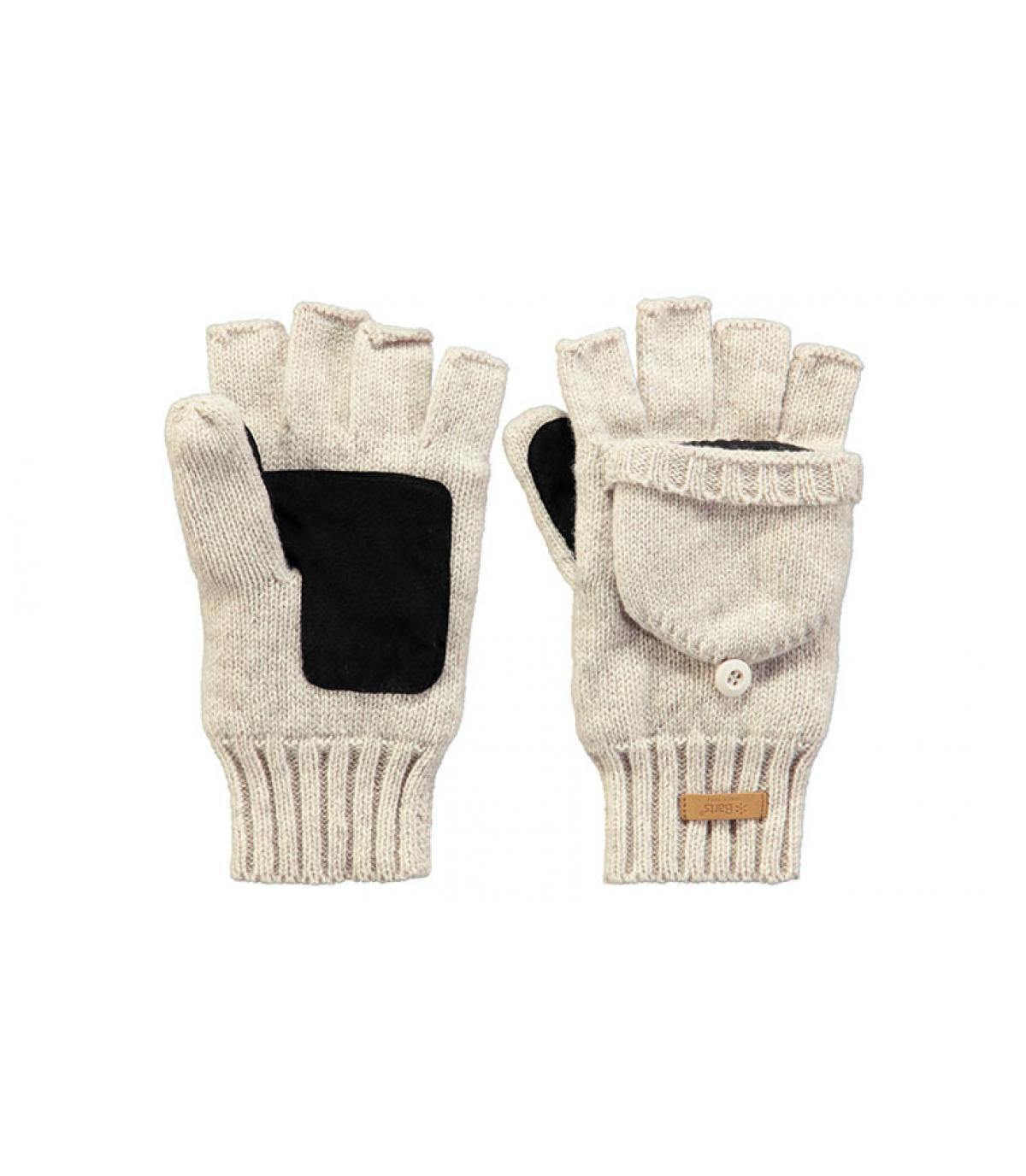 gants mitaines femme gris