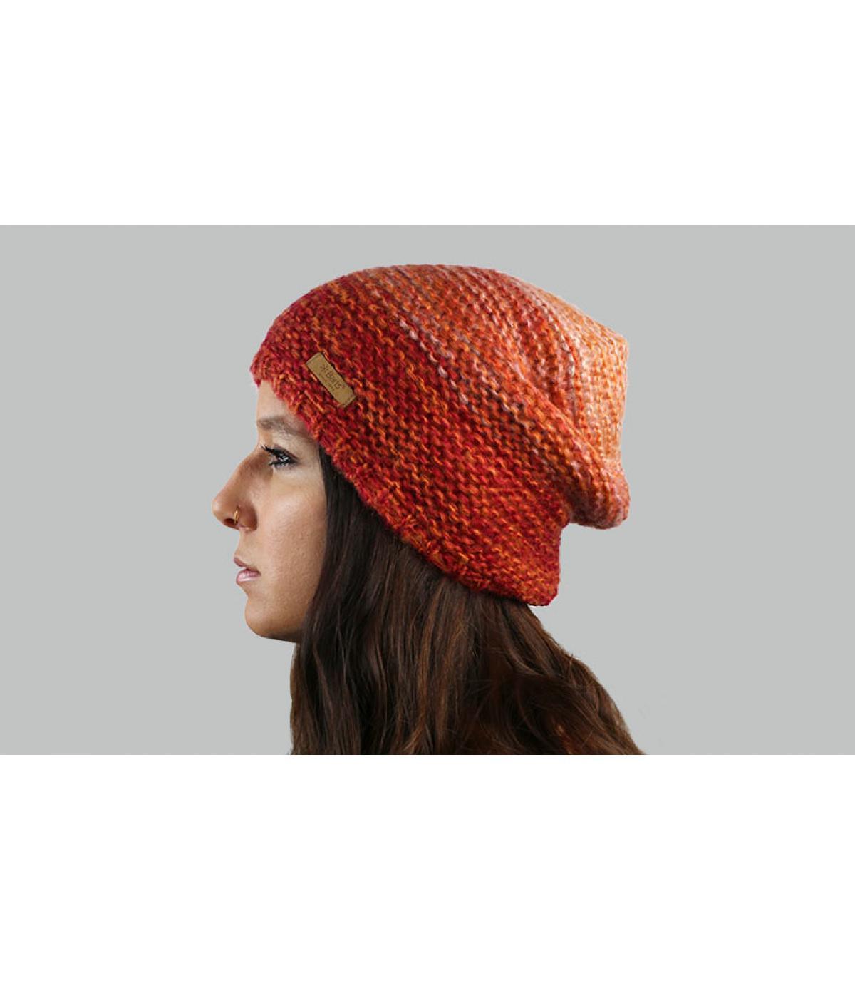 bonnet orange dégradé