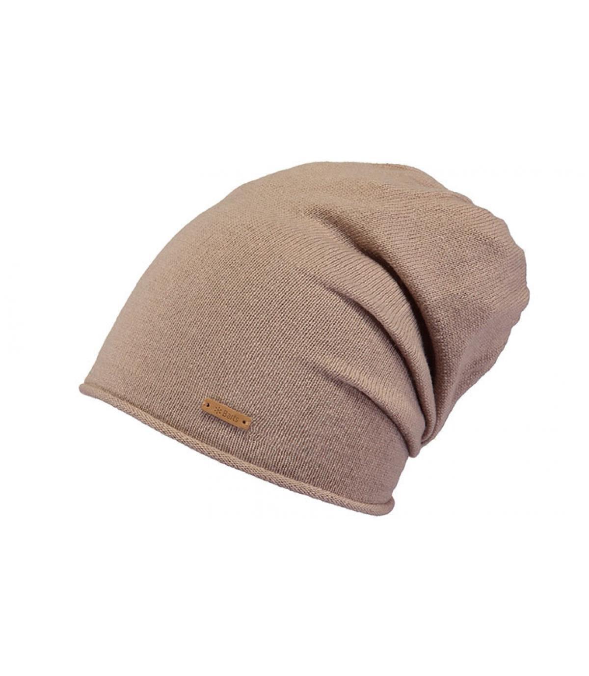 bonnet long beige cachemire