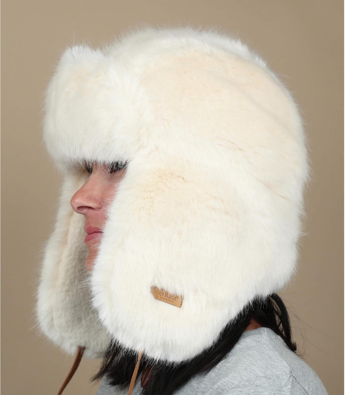 chapka fourrure femme blanc Barts