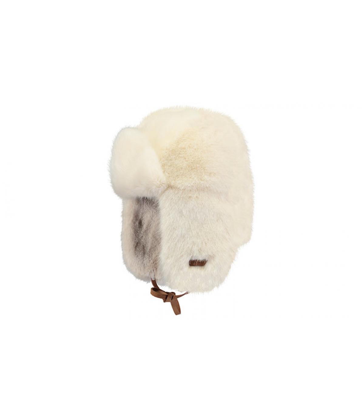 chapka fourrure femme blanc barts lucerne bomber white par barts headict. Black Bedroom Furniture Sets. Home Design Ideas