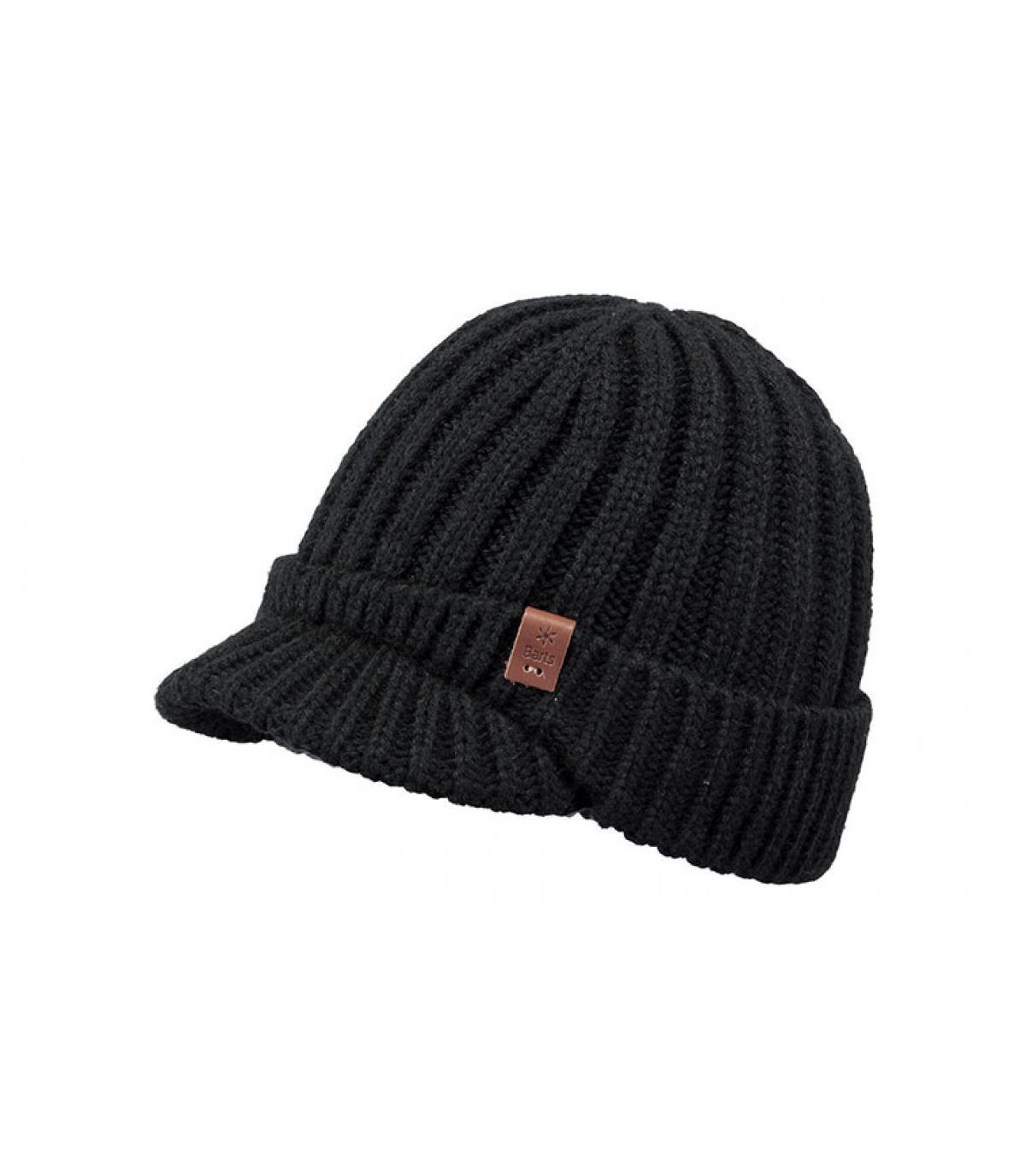 bonnet visière noir Barts
