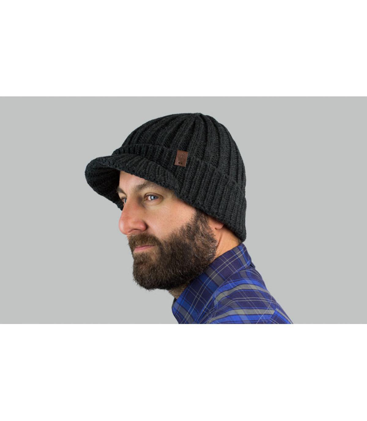 bonnet visière gris Barts