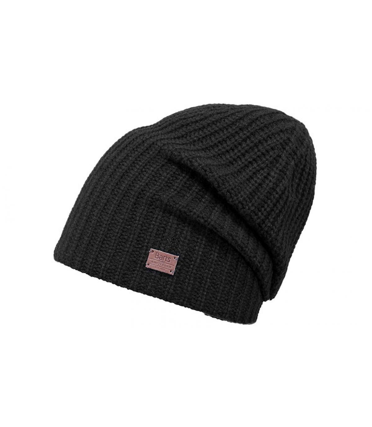 bonnet long cachemire noir