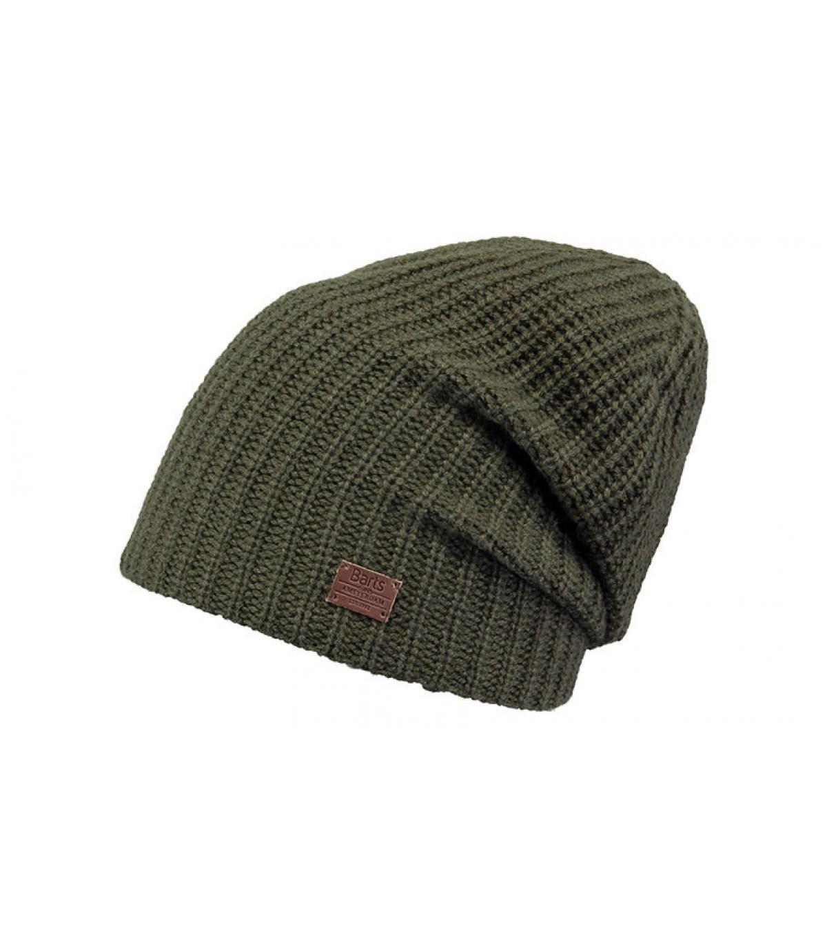 bonnet long cachemire vert