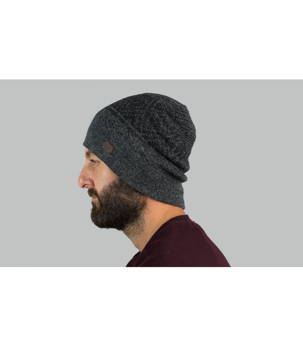 bonnet motif gris