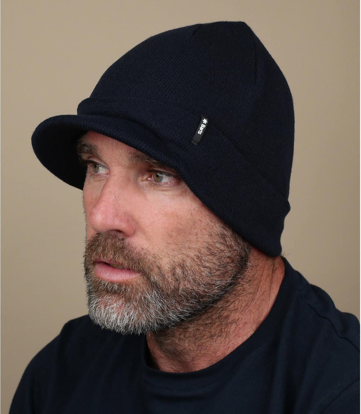 bonnet visière bleu marine