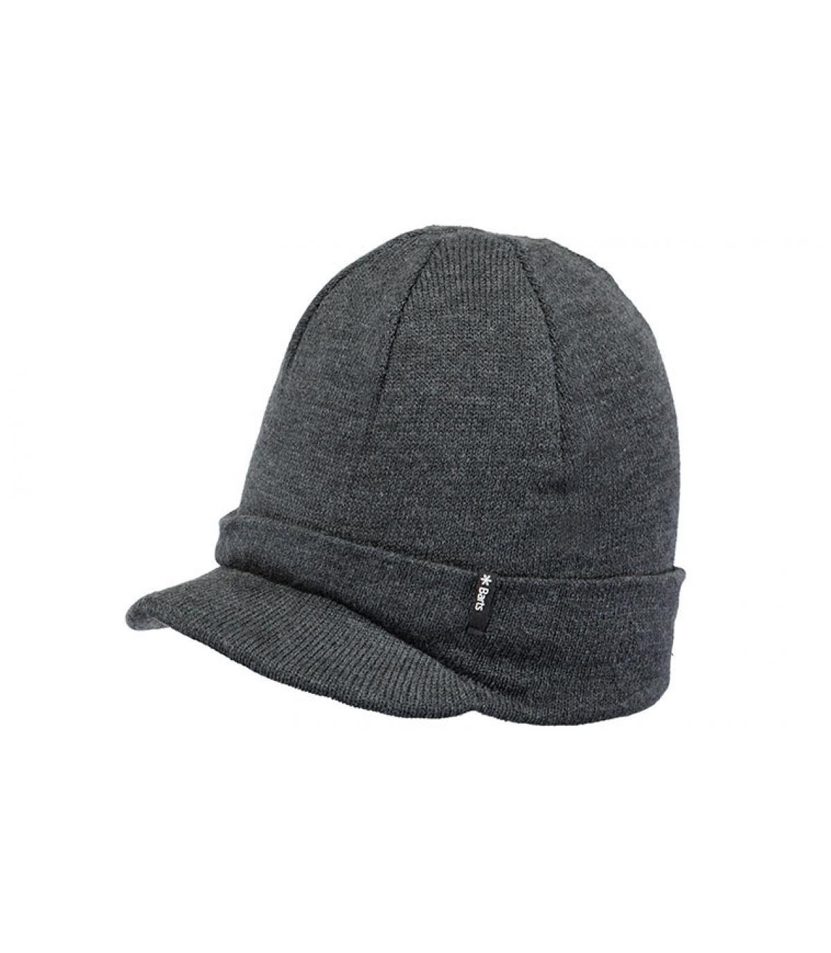 bonnet visière gris foncé