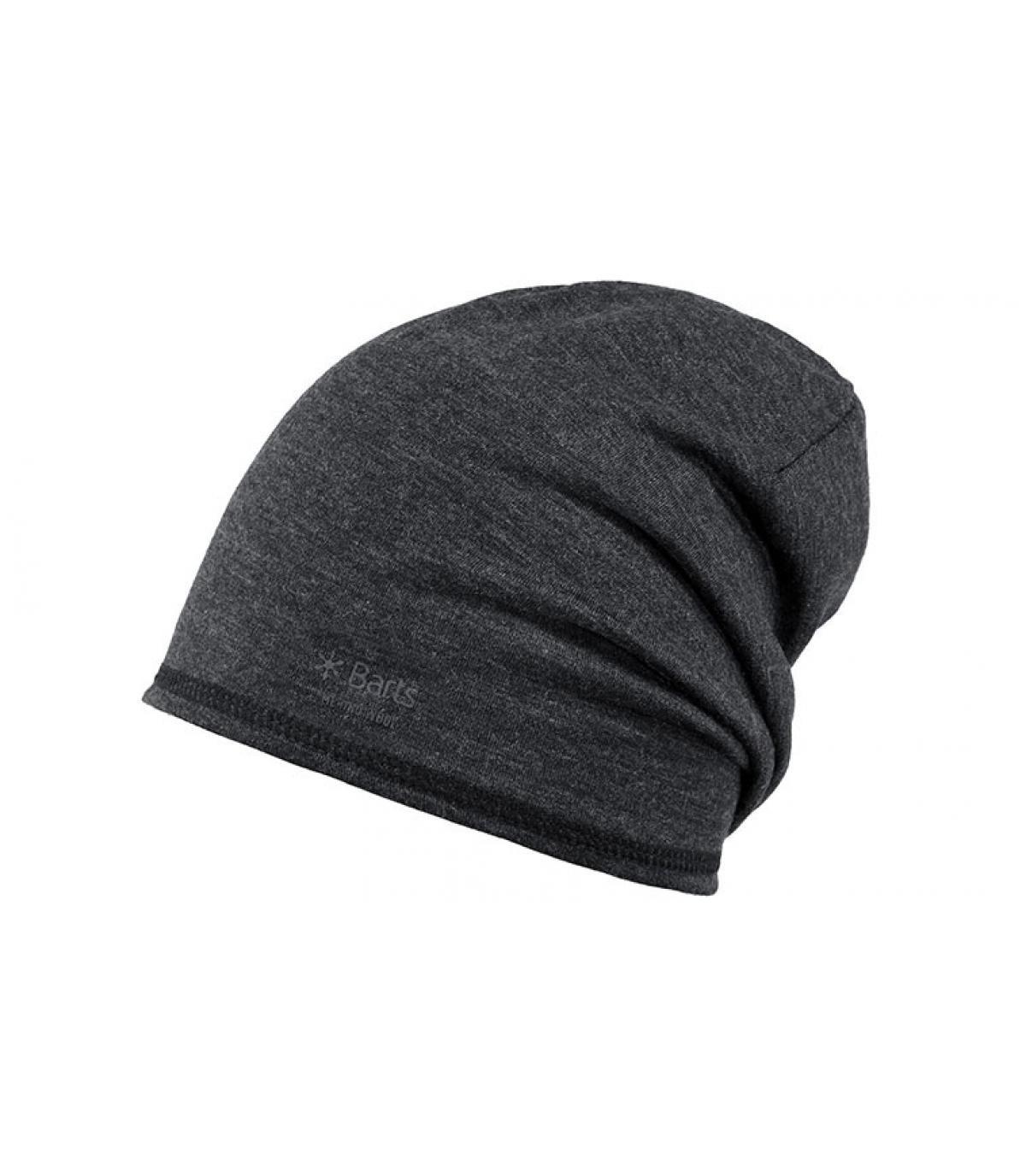 bonnet laine gris long