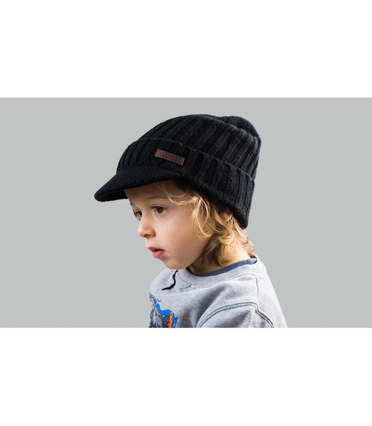 bonnet visière enfant noir