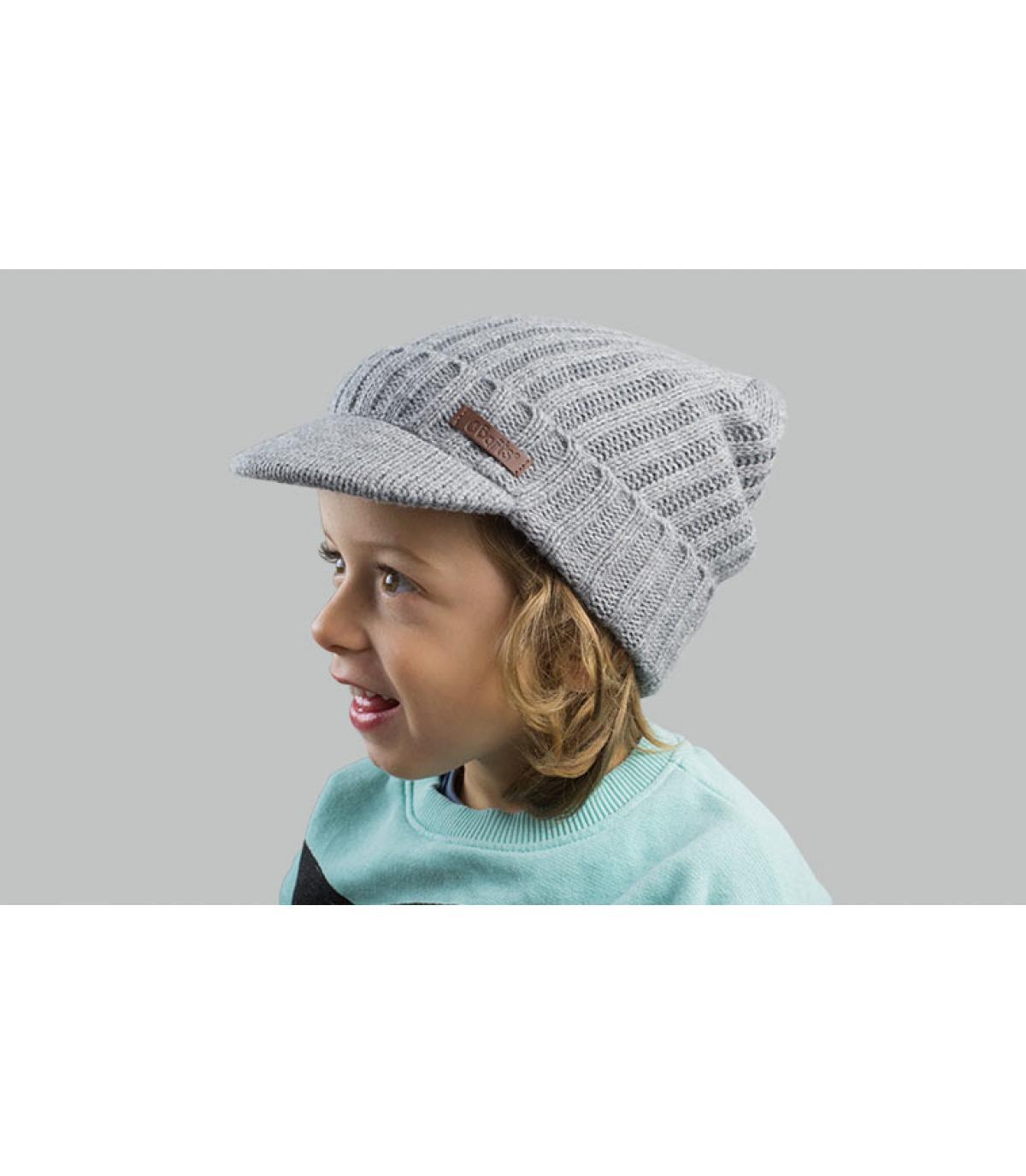 bonnet visière enfant gris