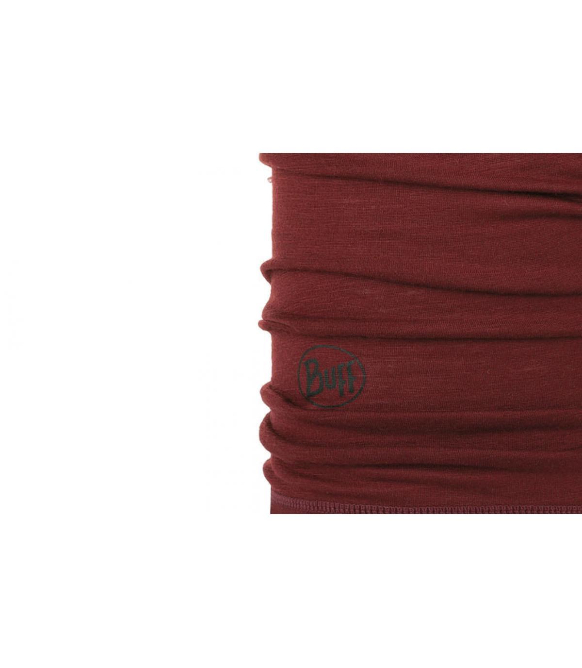 Détails Lightweight Merino Wool solid wine - image 2