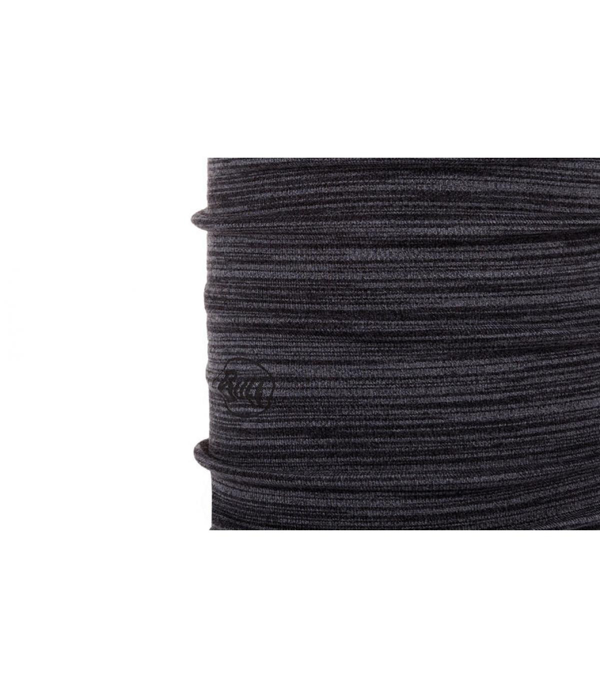Buff laine gris noir