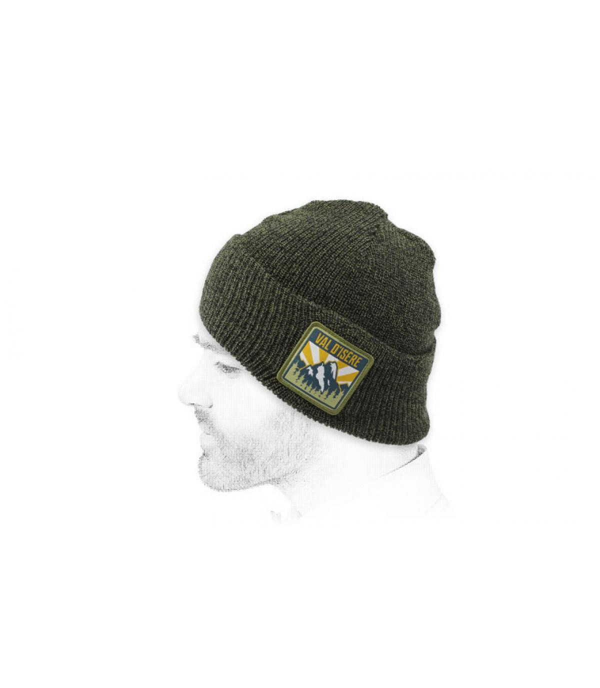 bonnet Val-d'Isère vert