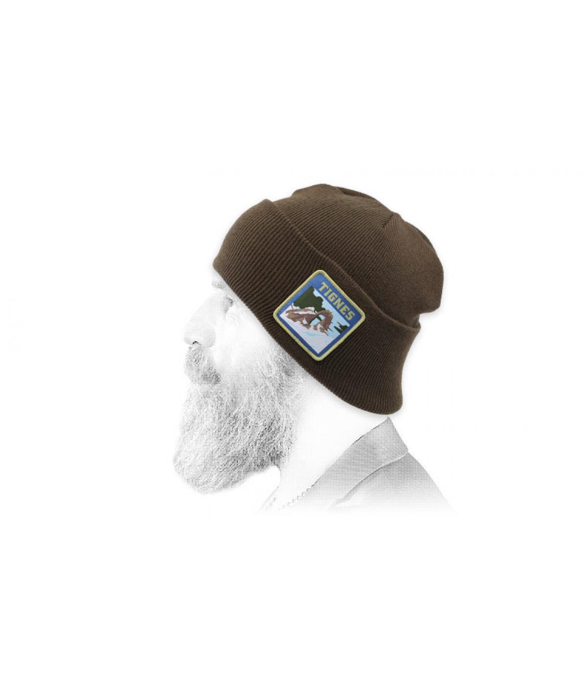 bonnet brun Tignes