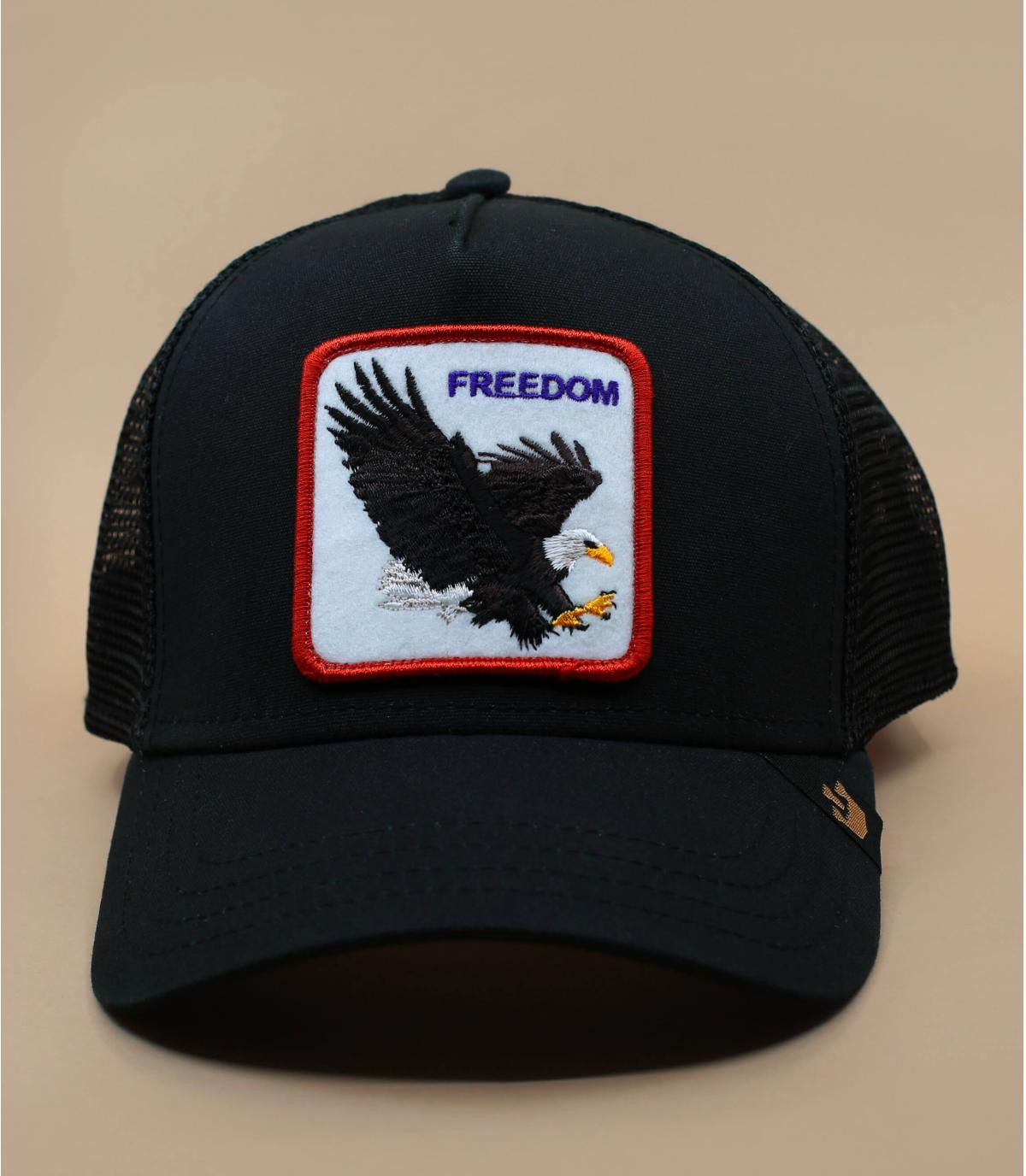 trucker aigle noir