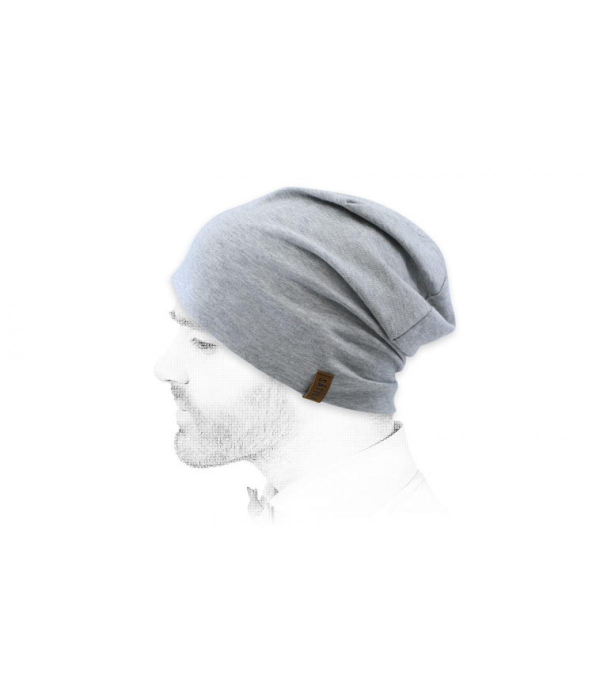 bonnet long gris chiné