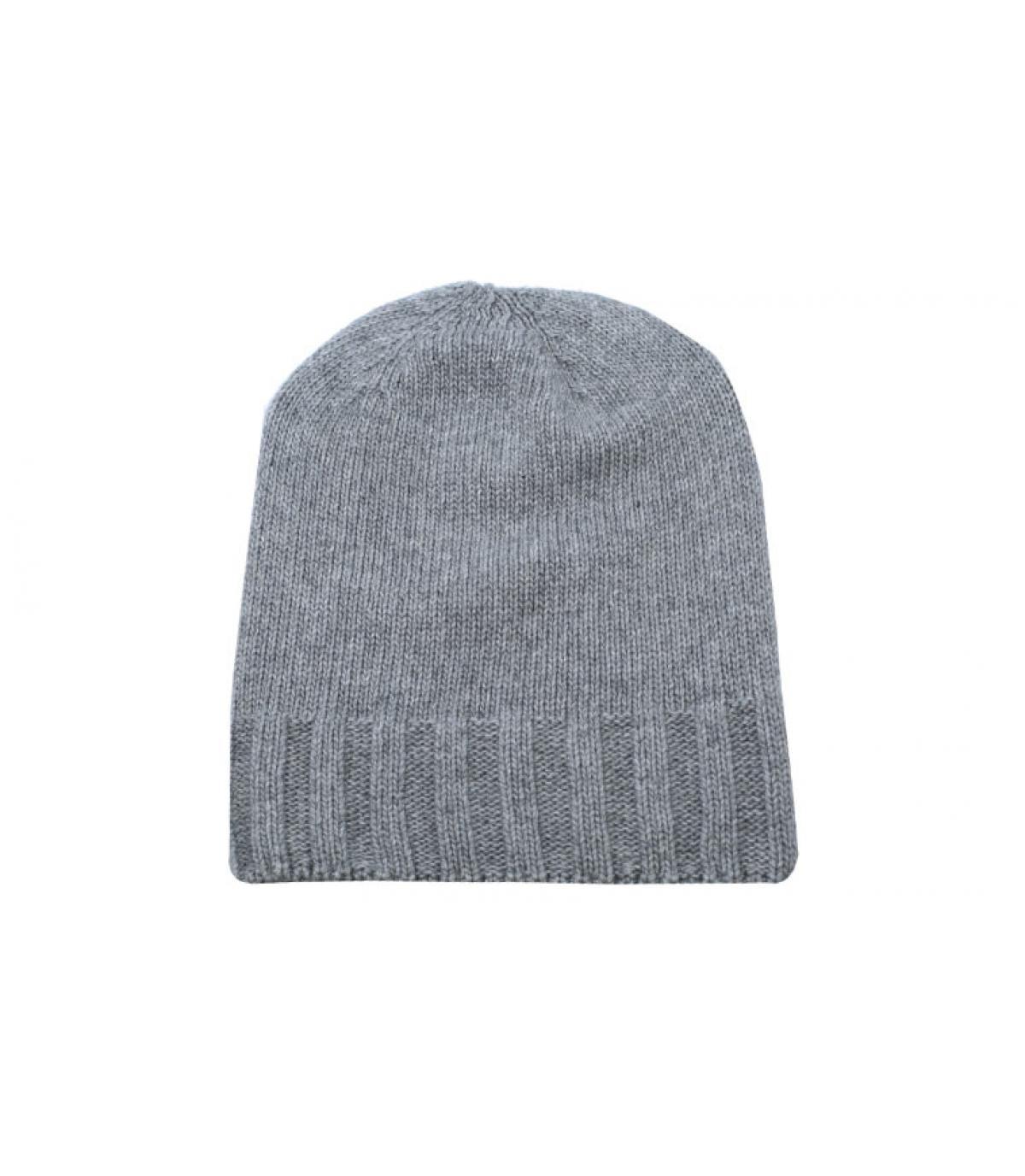 bonnet gris laine recyclé