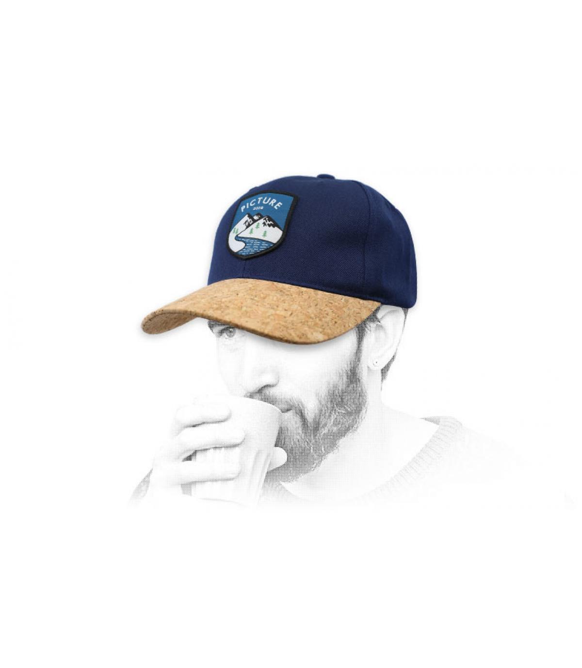 casquette Picture bleu liège