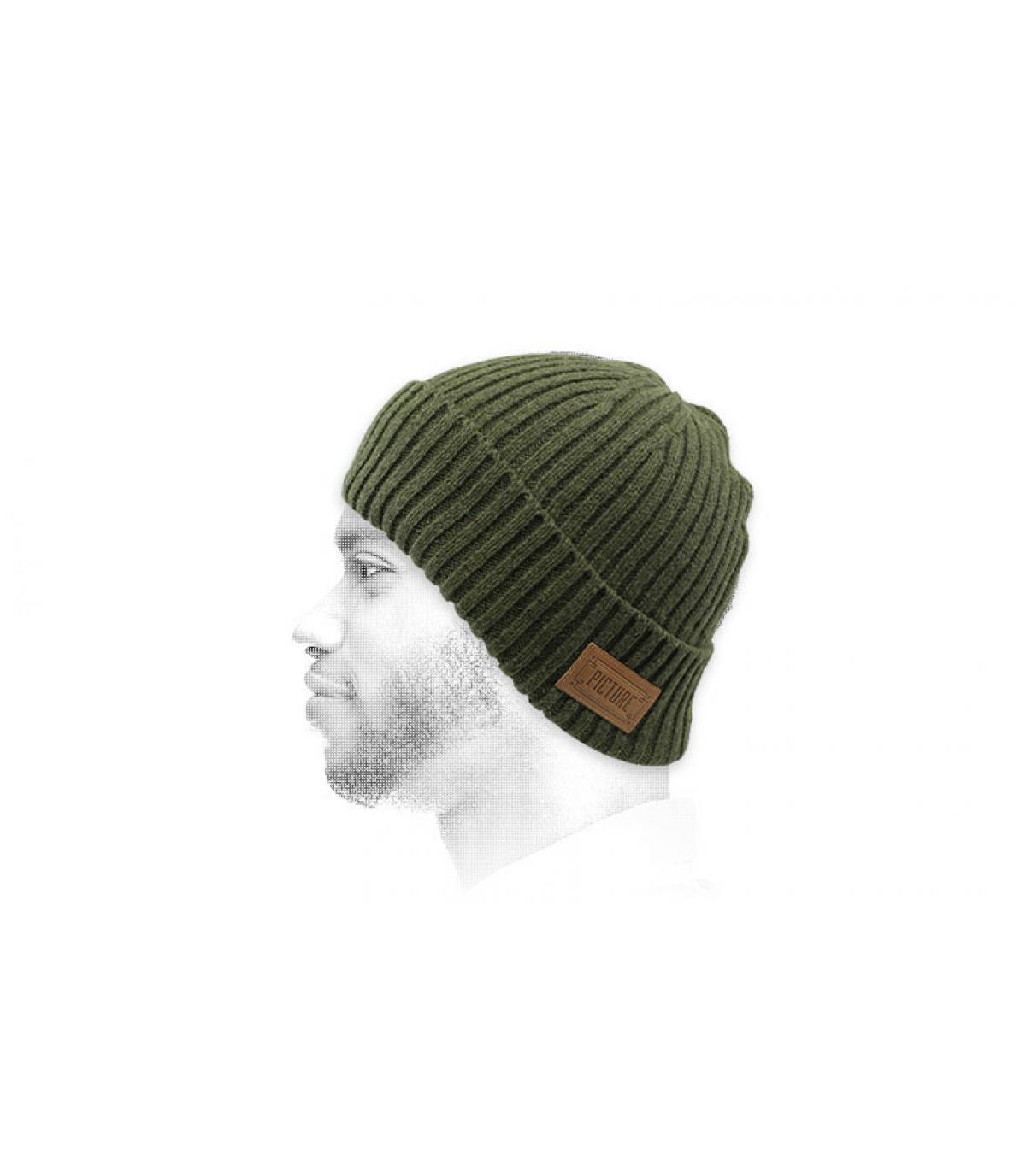 bonnet revers vert Picture
