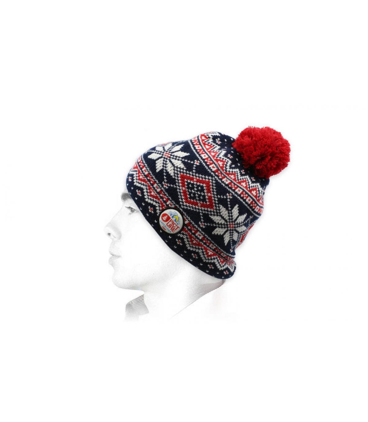 bonnet pompon motif Picture
