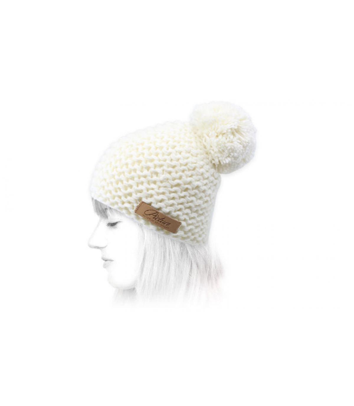 bonnet pompon blanc Picture