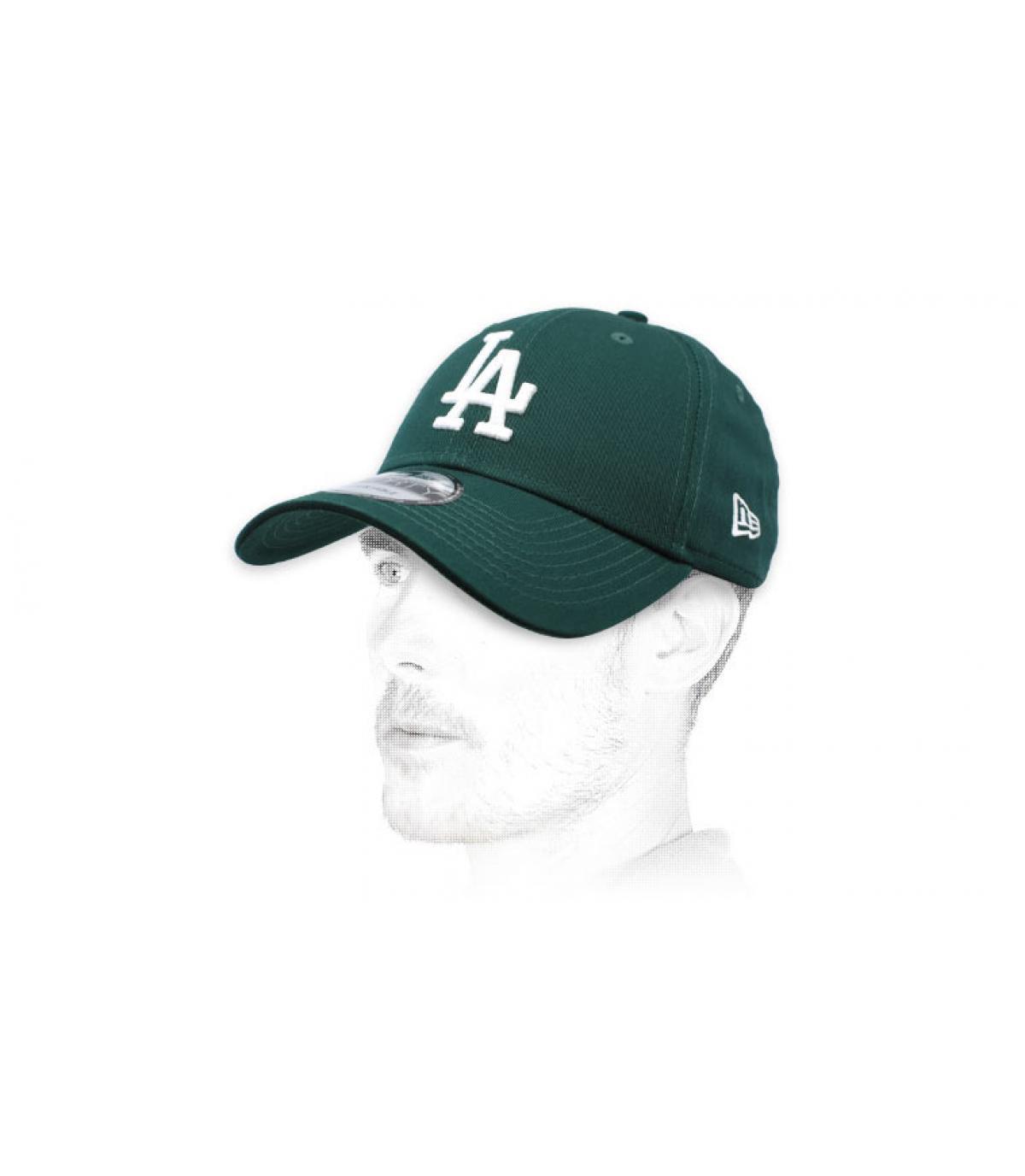 casquette LA vert