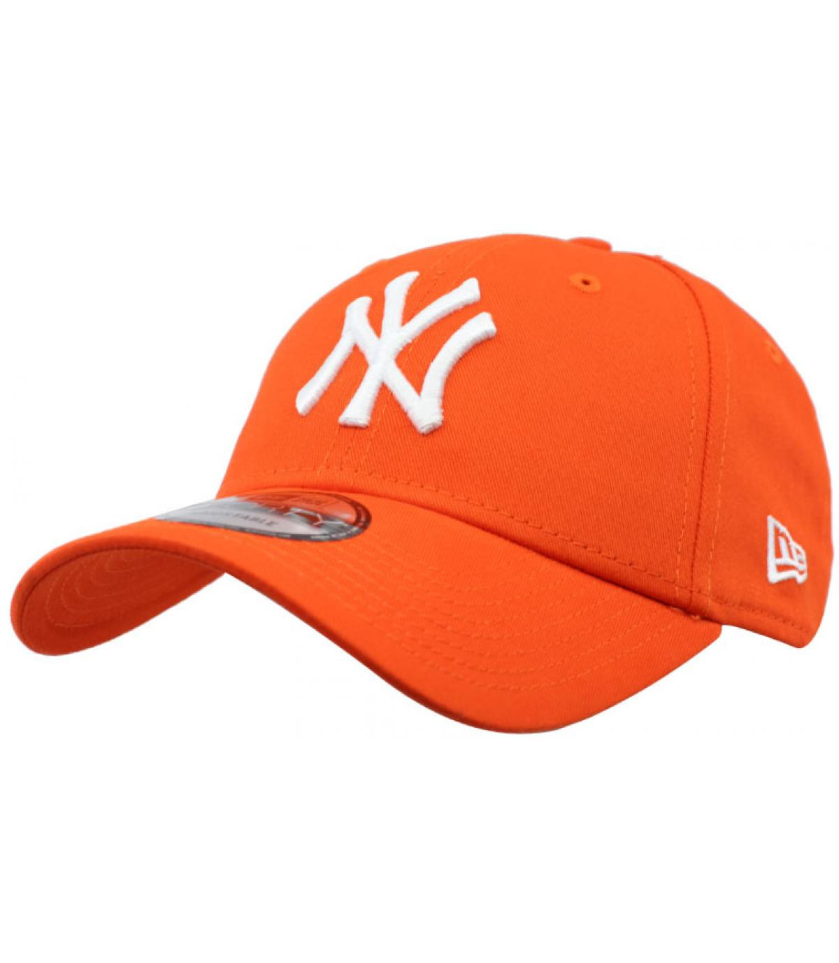 casquette NY orange
