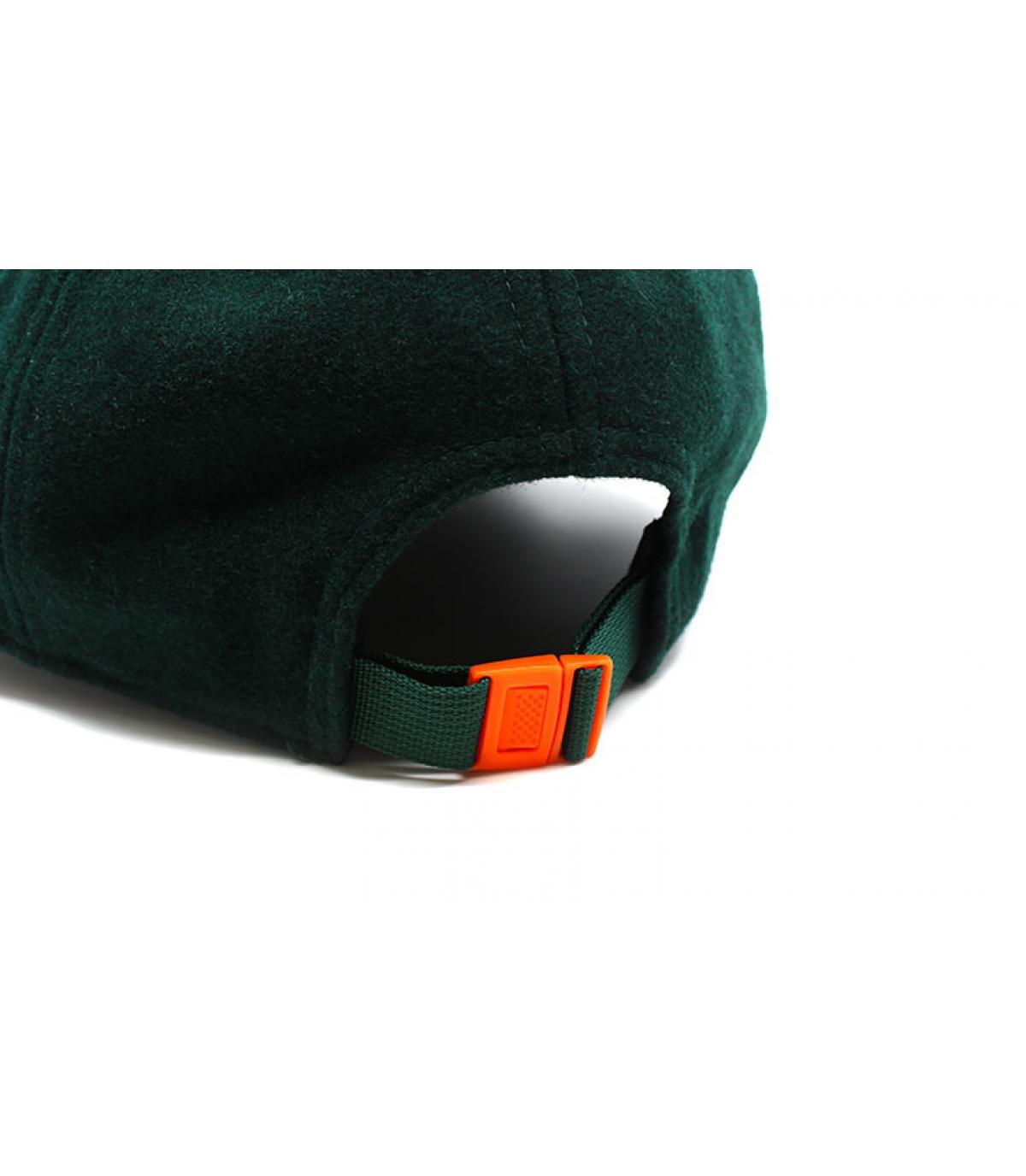 Détails Casquette Winter Utility Detroit Melton 9Forty dark green orange - image 5