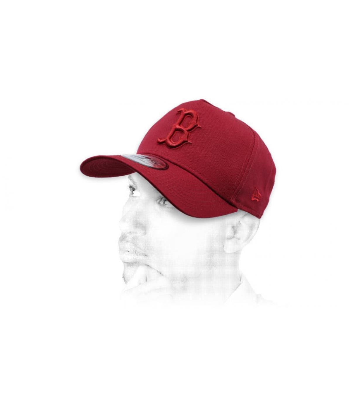 casquette B bordeaux