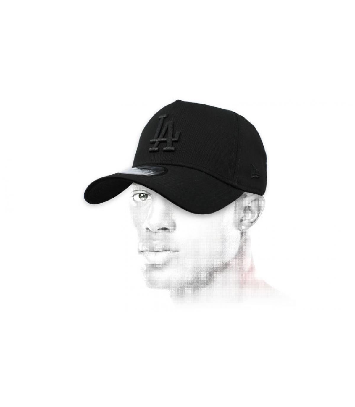 casquette LA noir Aframe