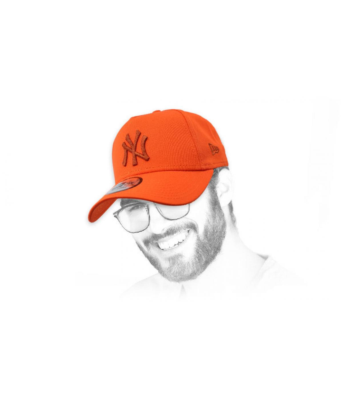 casquette NY orange Aframe