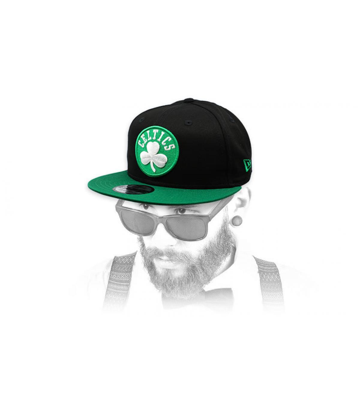 snapback Celtics vert noir