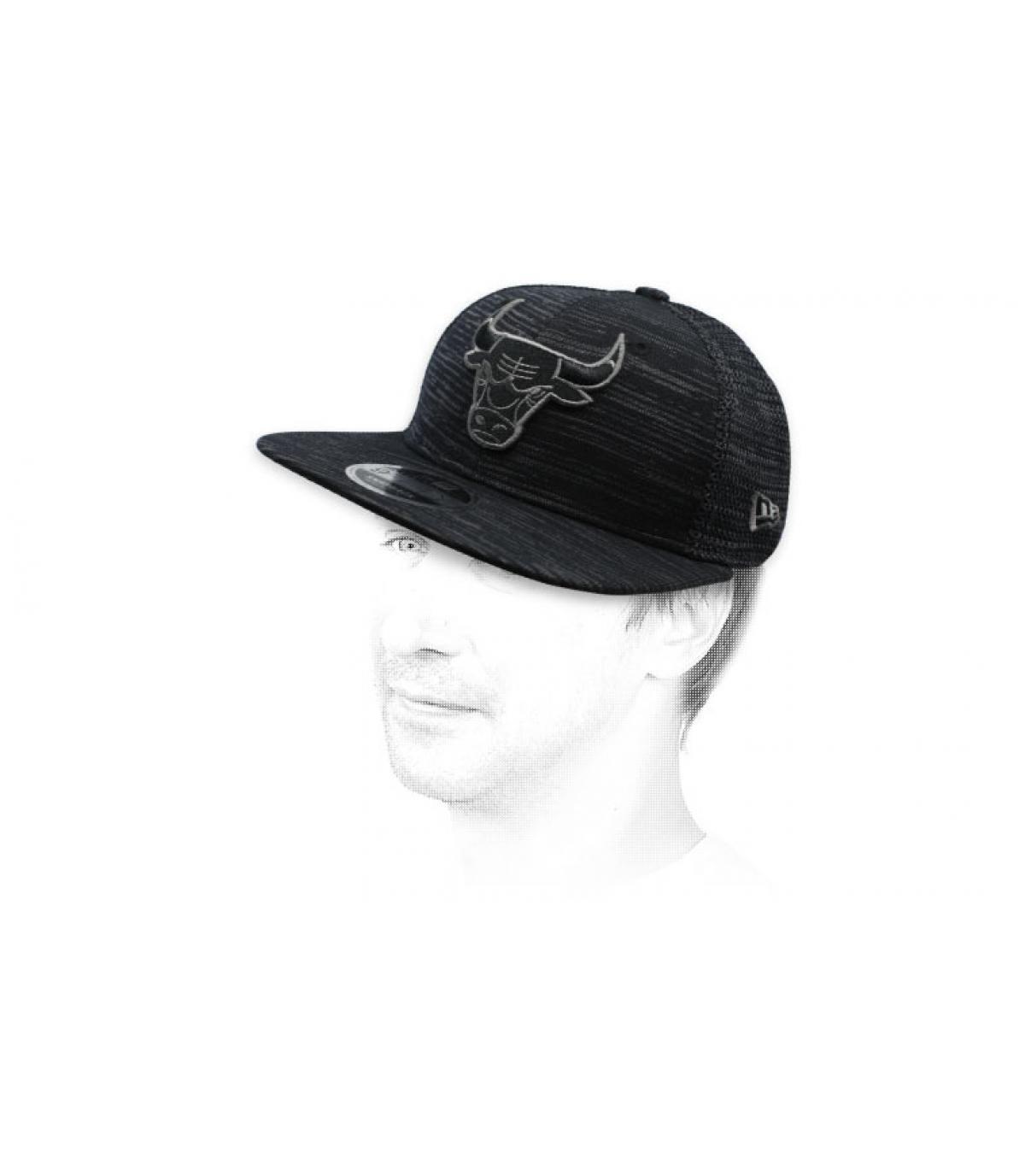 snapback Bulls noir Engineered