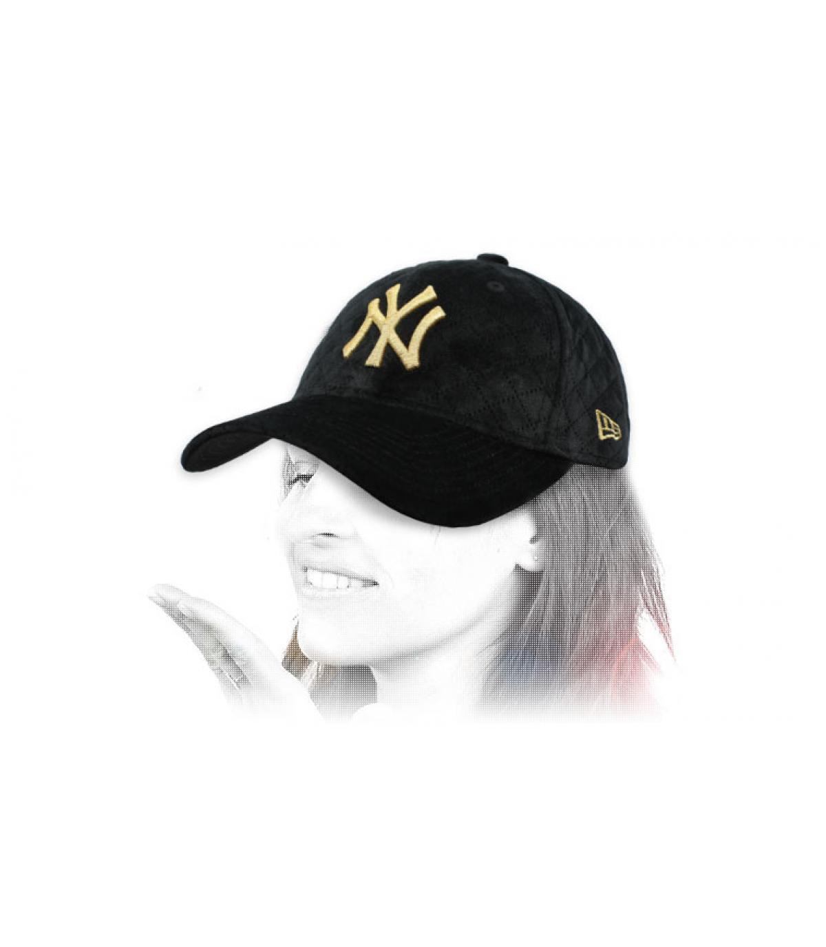 casquette femme NY noir