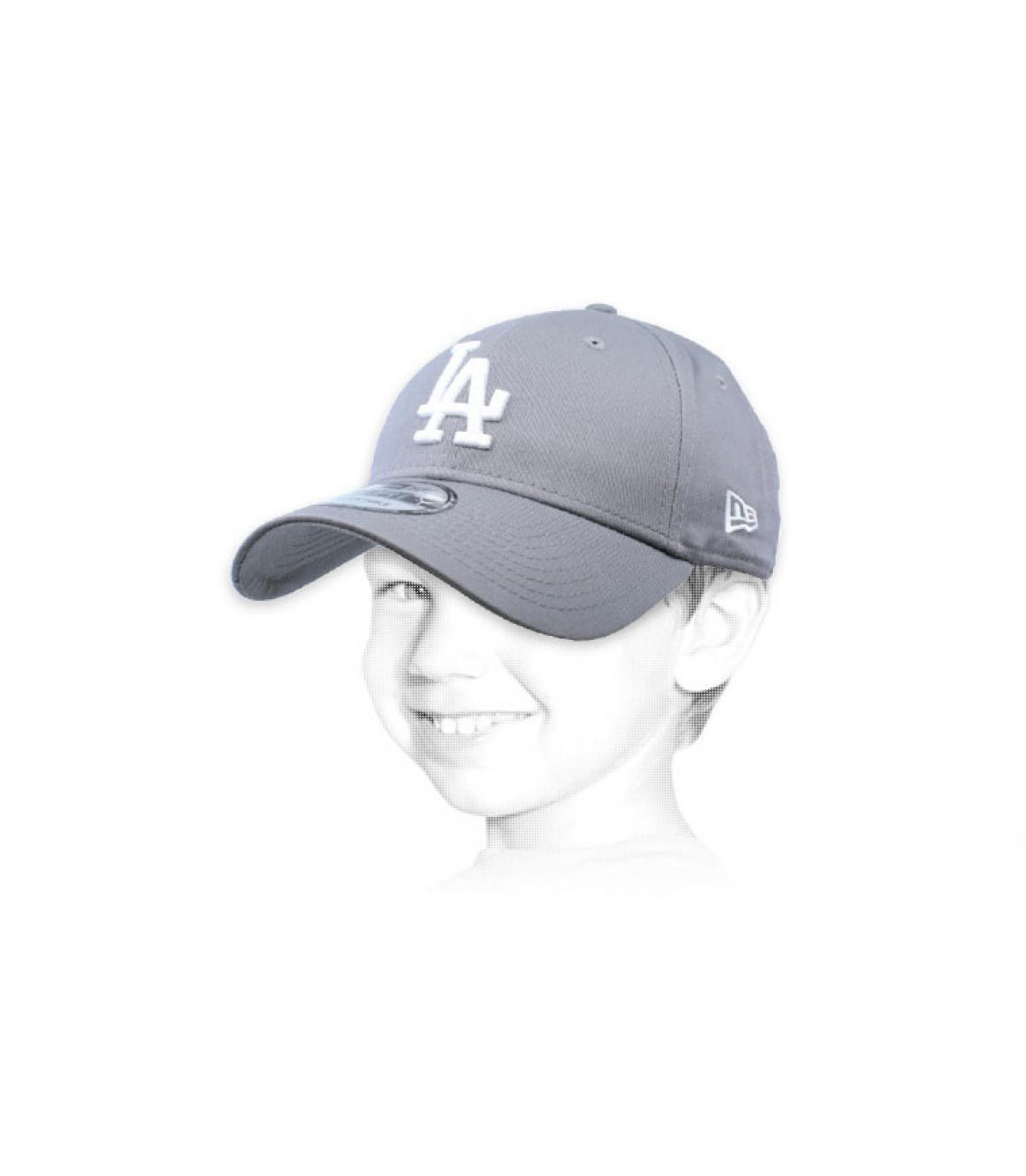 casquette LA enfant gris