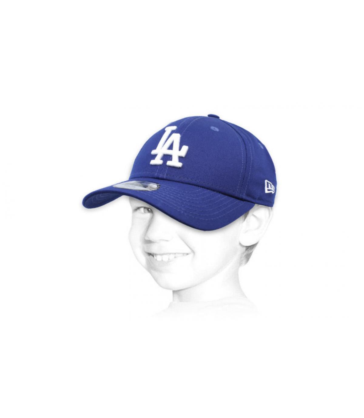 casquette enfant LA bleu