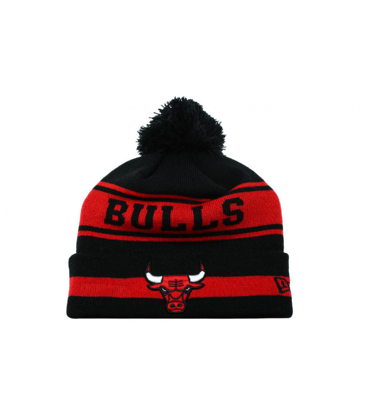 bonnet Bulls noir rouge