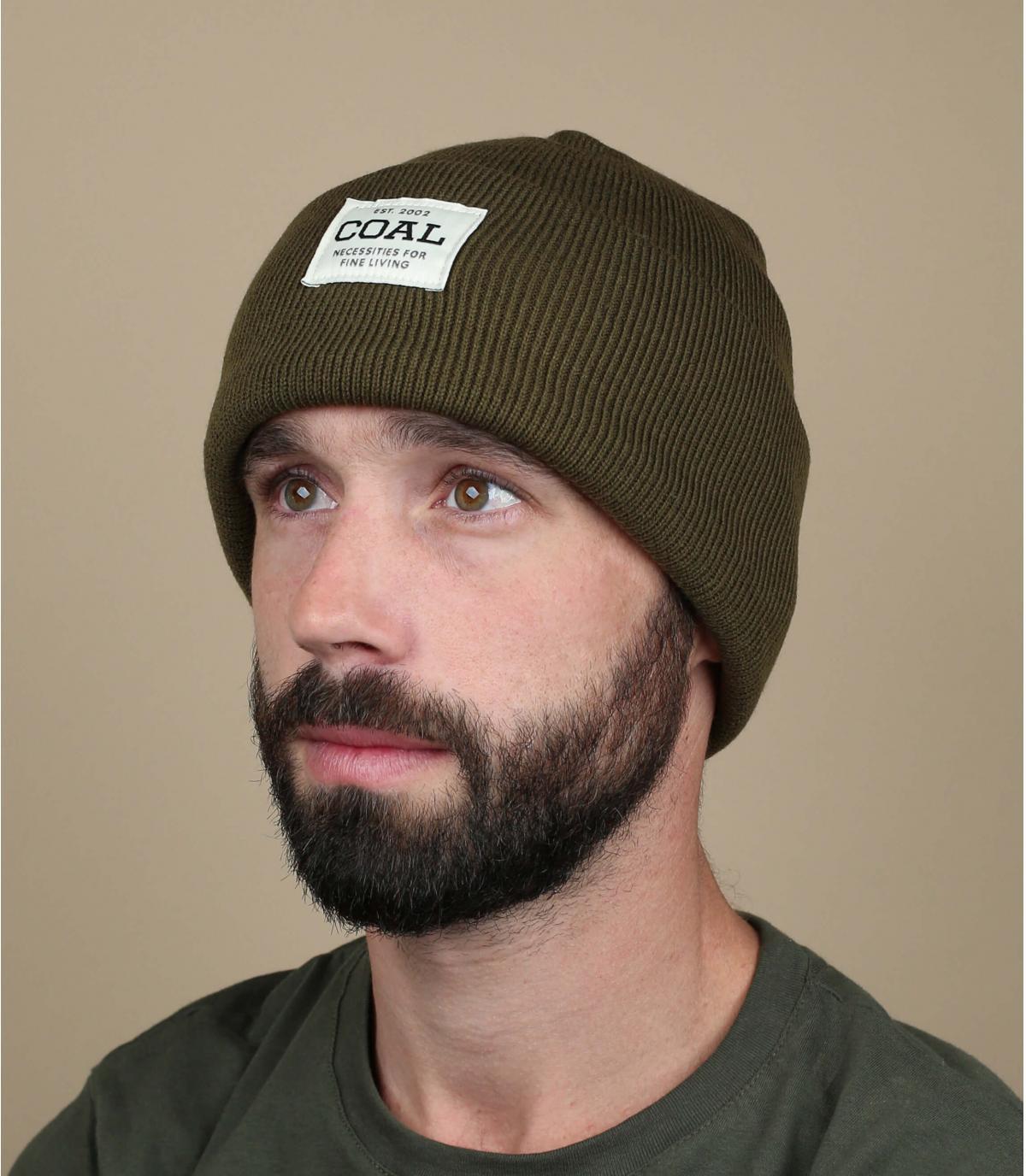 bonnet revers vert Coal