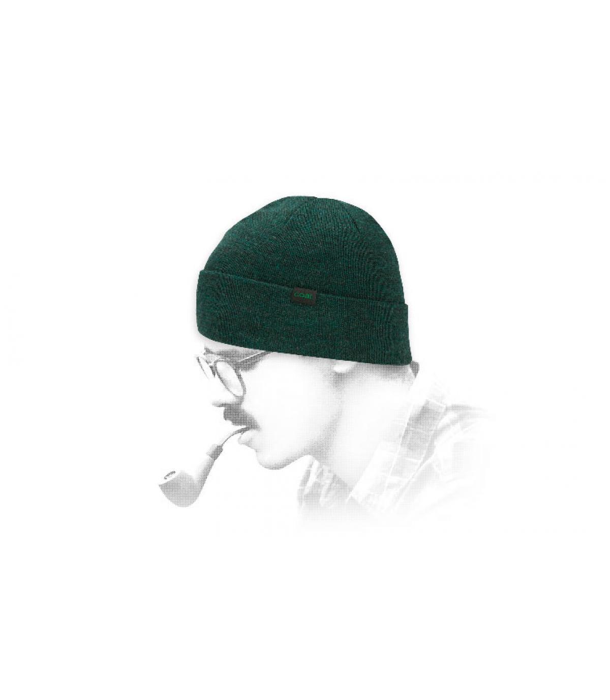 bonnet Coal laine vert