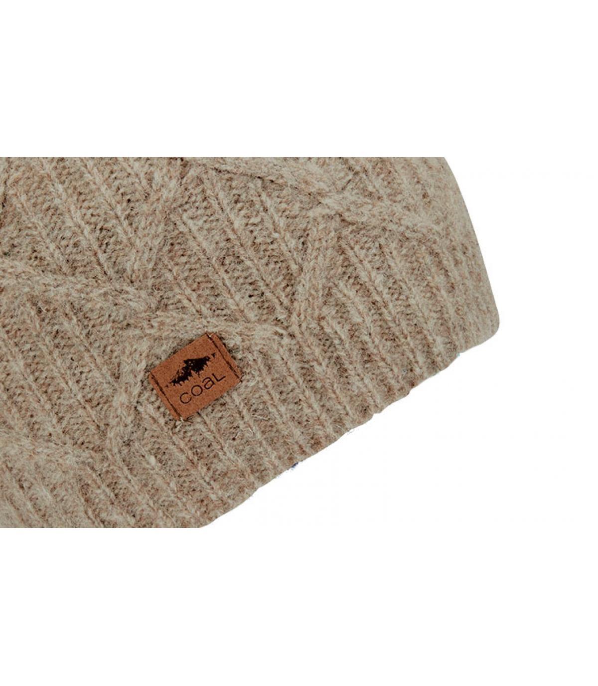 bonnet laine torsade beige