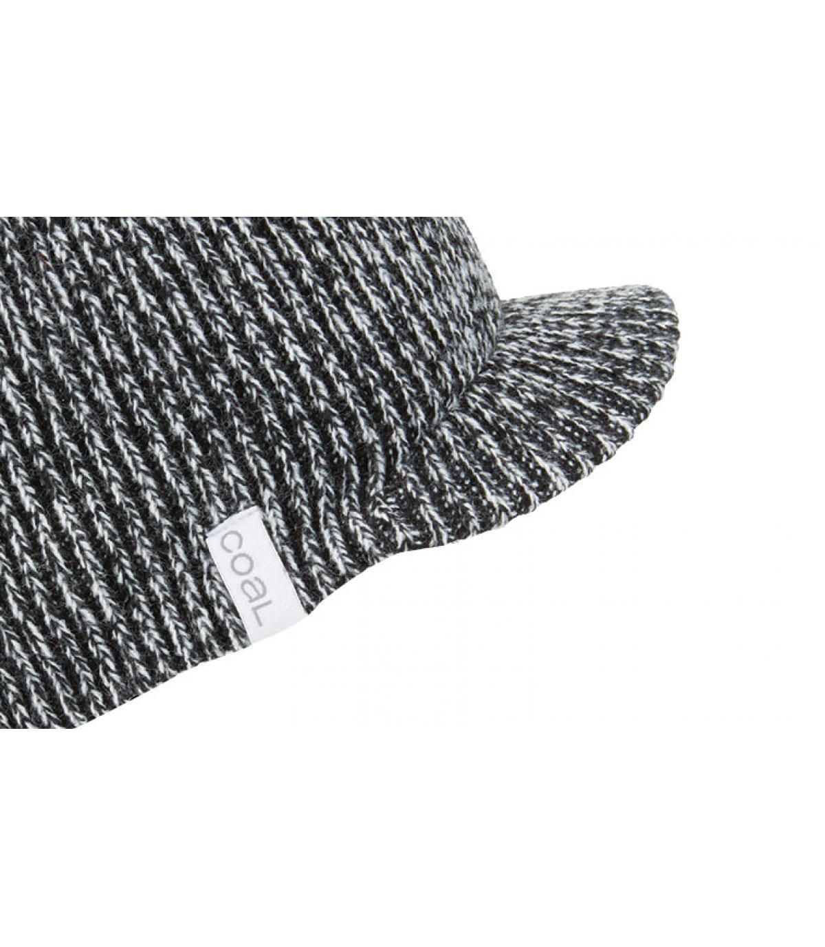 bonnet visière gris chiné