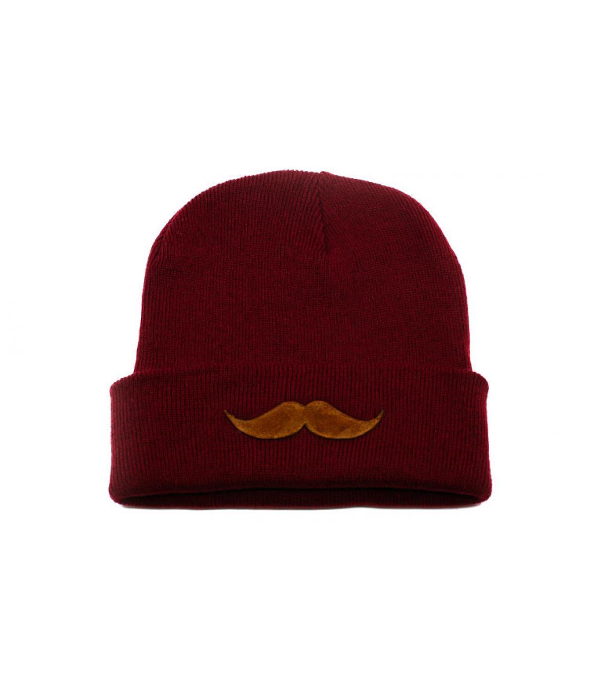 Détails Bonnet Movember burgundy - image 2