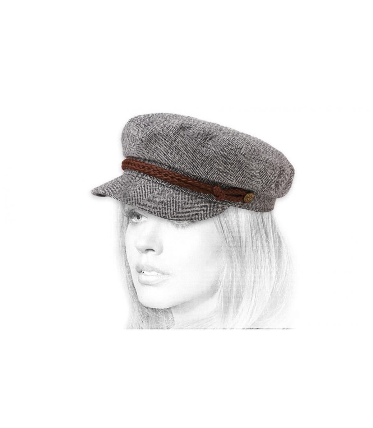 casquette marin gris chiné