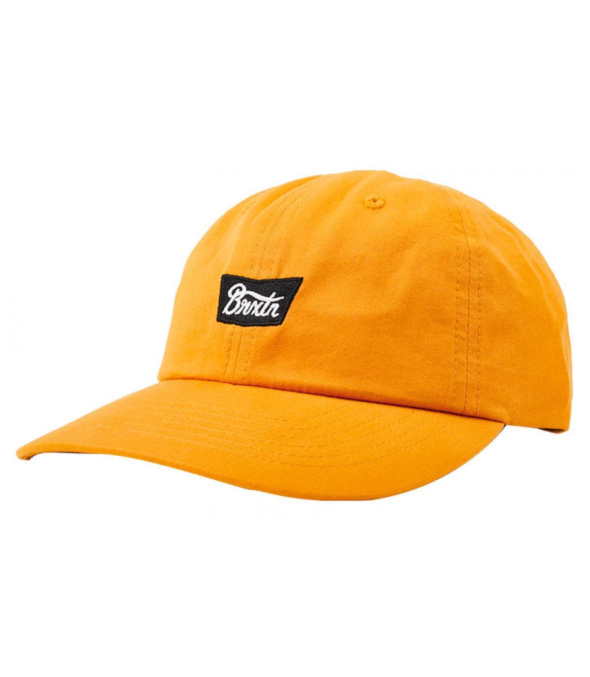casquette jaune moutarde