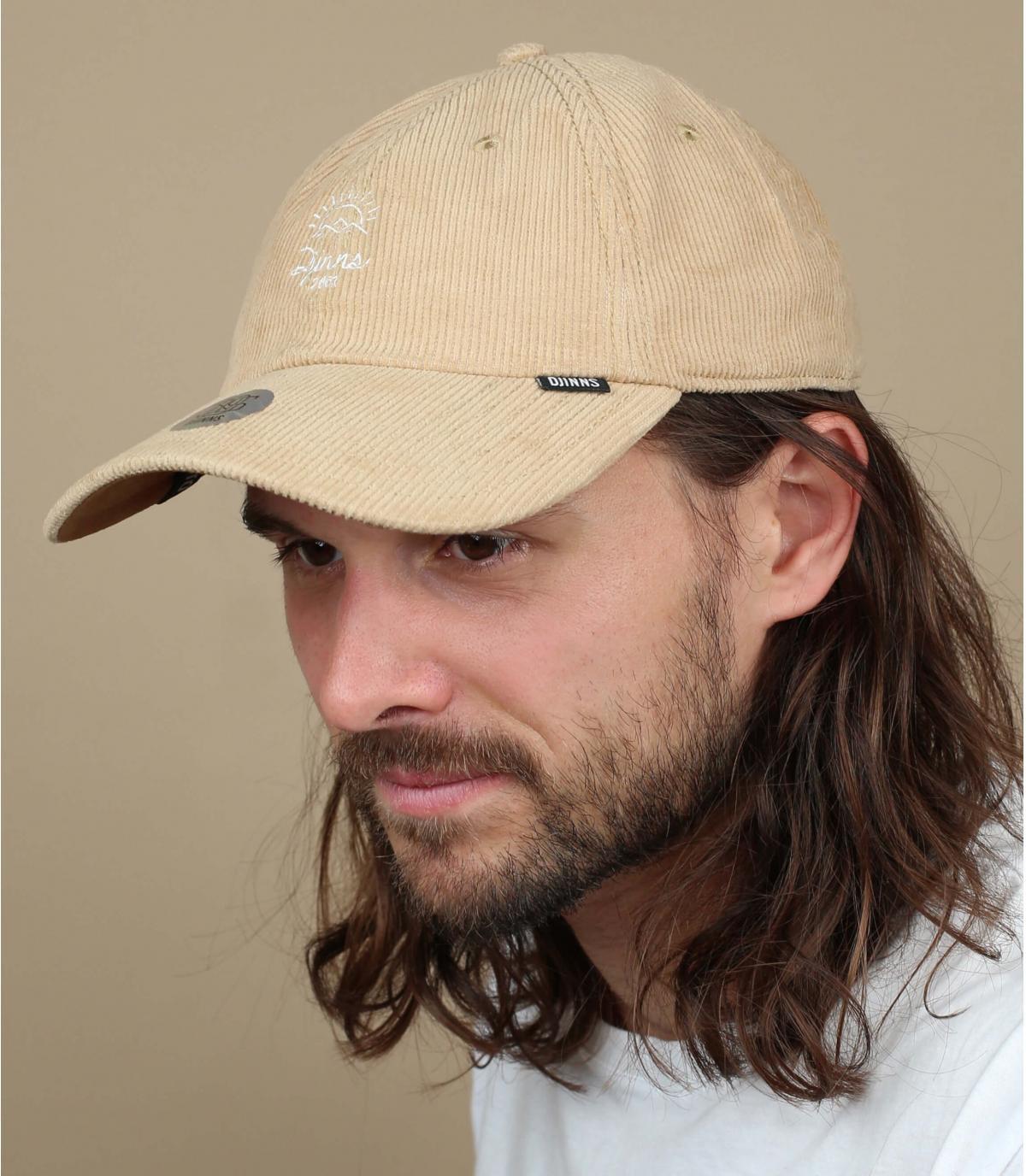 casquette velours beige Djinns