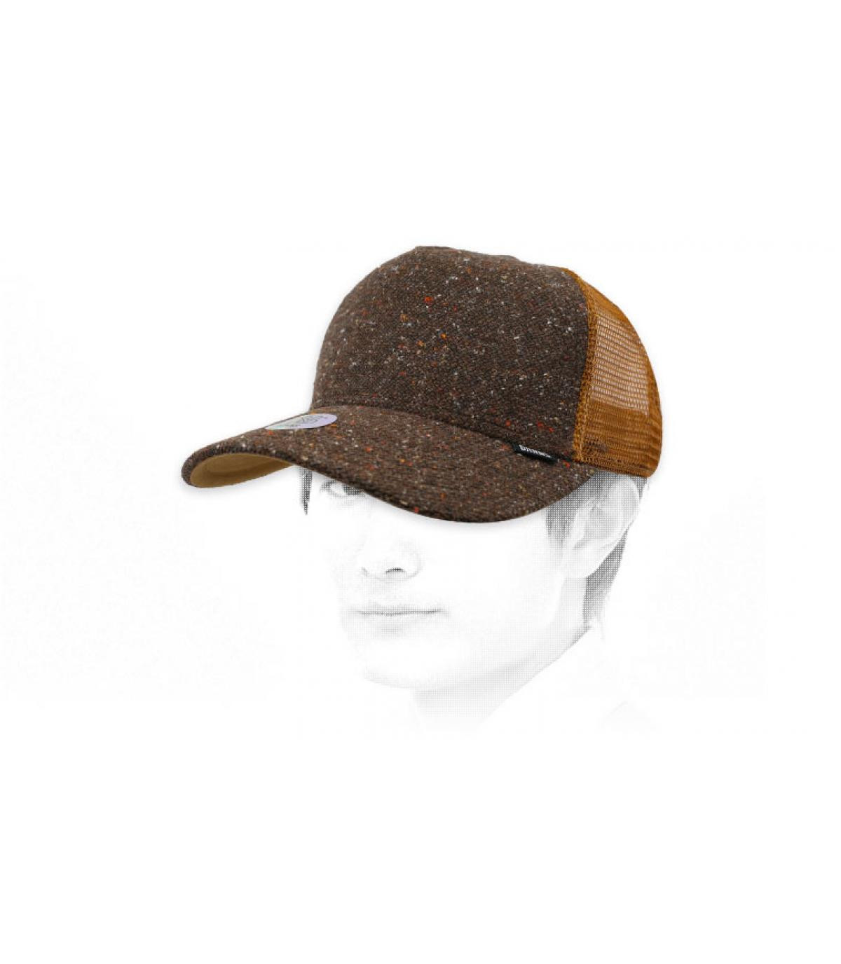 trucker feutre chiné brun