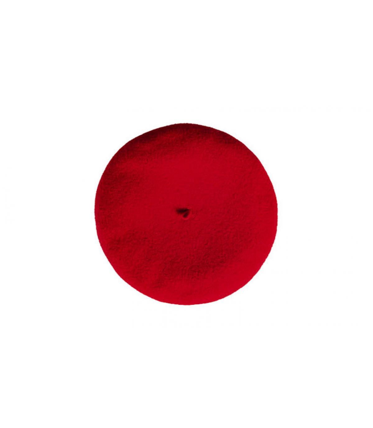 béret cachemire rouge